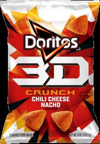 Doritos 3D Crunchy Flavored Corn Snacks Spicy Ranch Flavored