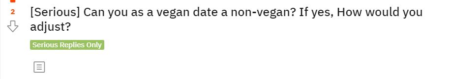 reddit question Can A Vegan Be With A Non Vegan | veganscult.com